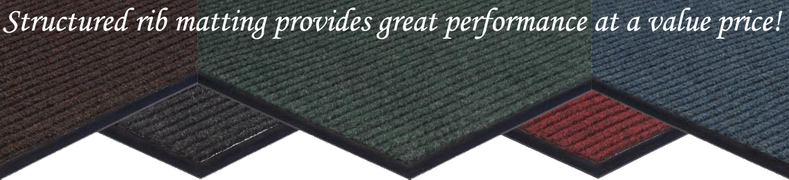 Structured Rib Vinyl-Backed Entrance Matting