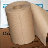 "8"" Brown Hardwound Kraft Roll Hand Towels (12 rolls/350' per roll)"