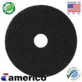 "16"" Marko Americo Black Floor Stripping Pads (CASE OF 5)"