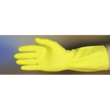 Latex Flock Lined Yellow Gloves SIZE LARGE (15 mil, 12 Pairs)