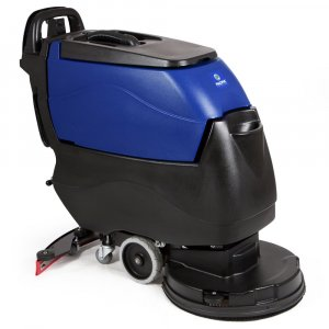 PACIFIC S-20 disk scrubber, 130AH lead acid batteries, on-board charger & pad driver